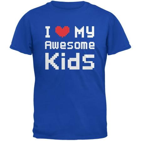 I Heart My Awesome Kids 8 Bit Pixel Royal Adult - Bit Z Kids