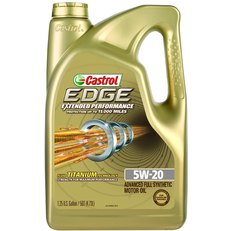 Castrol EDGE Extended Performance 5W-20 Full Synthetic Motor Oil, 5 qt.