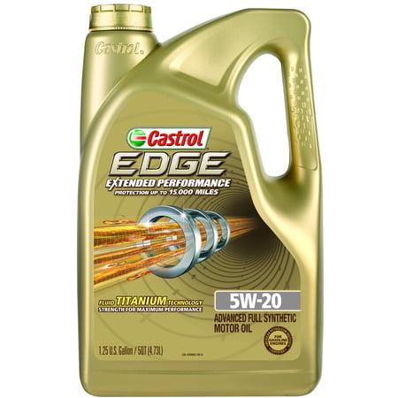 Castrol Edge Extended Performance 5W 20 Full Synthetic Motor Oil  5 Qt