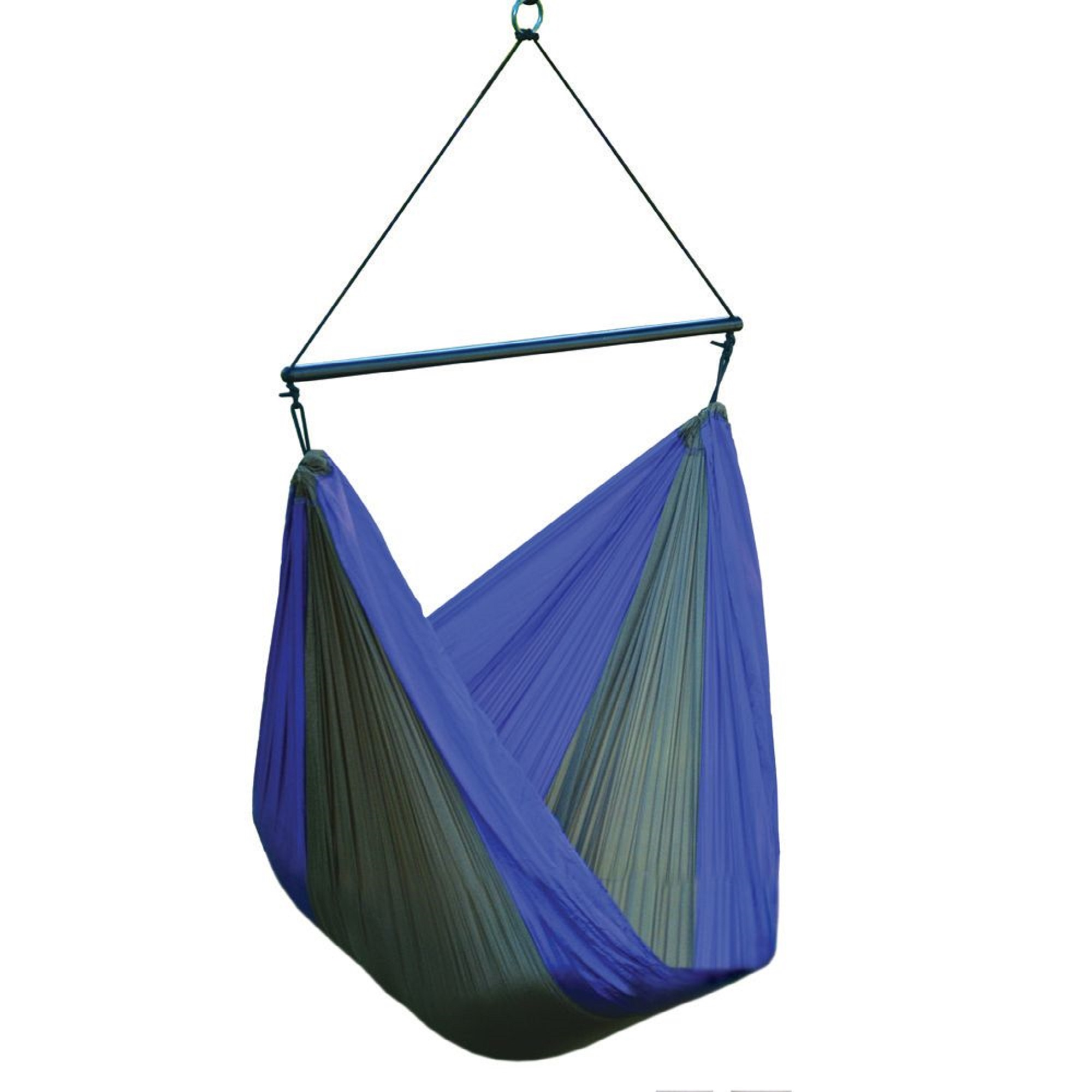 """60"""" Green and Blue Polyester Traveler Hammock Chair ..."""