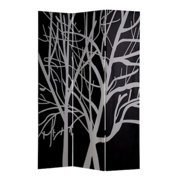 Roundhill Furniture 3 Panel Double Sided Painting Canvas Tree Room Divider Screen