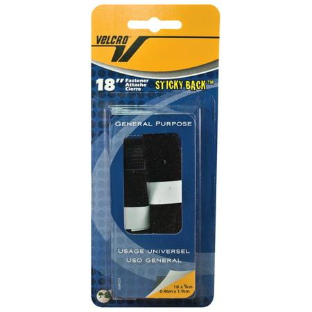 - Velcro Tape, 18in Strip, 1/Pkg., Black