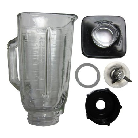 6 Piece Complete Glass Jar Replacement Kit for Oster Blenders GSET-CS
