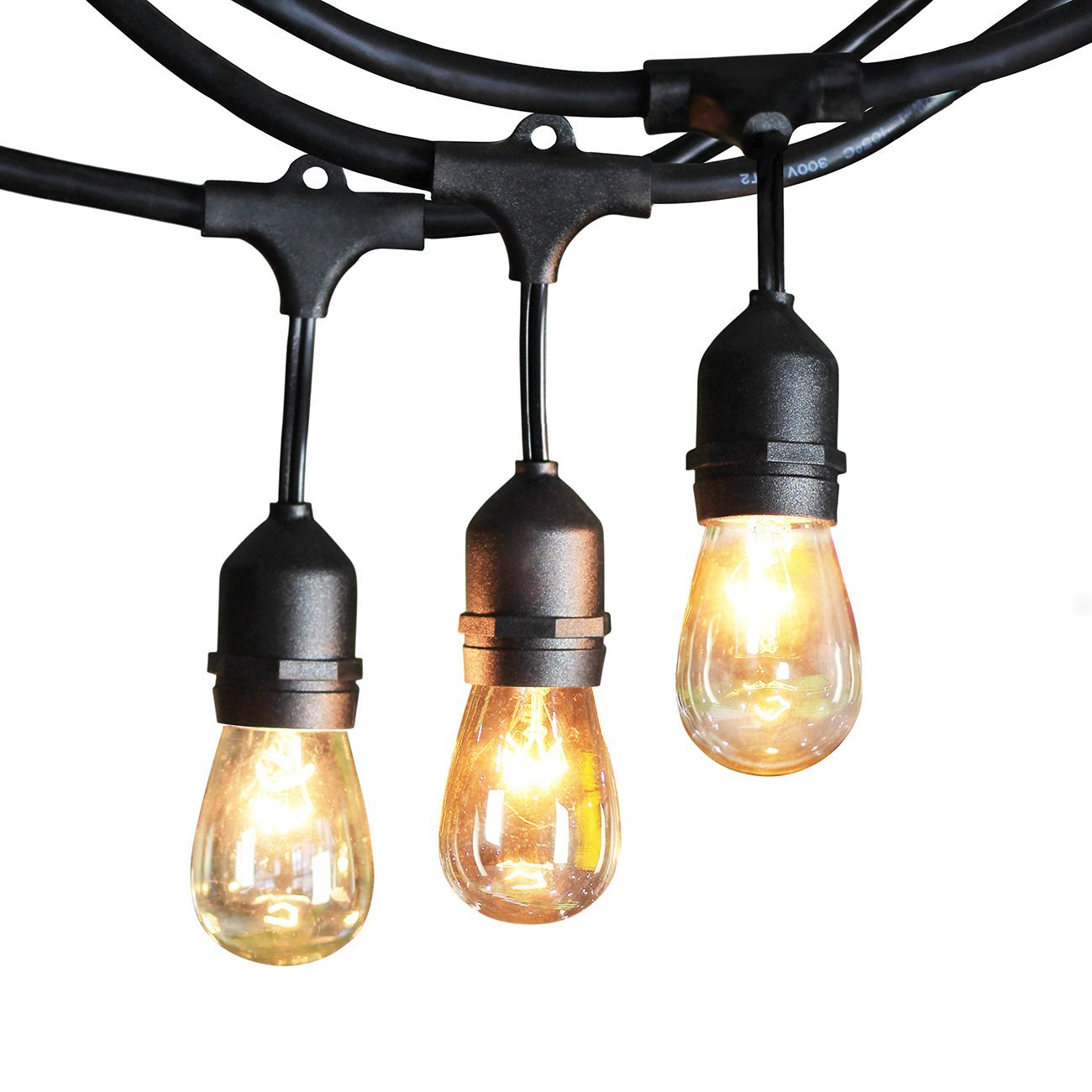 Ktaxon String Lights,Outdoor String Light with Sockets, S14 Bulbs included 芒鈧€?Vintage Edison String Lights Great for Commercial Lighting, Patio, Wedding - image 4 of 7