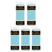 (5 Pack) Tissue Paper Sheets, 26 x 20 in, Baby Blue, 10ct