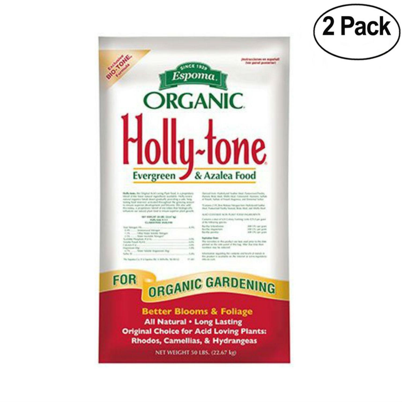 Espoma Organic 4-3-4 Holly Tone Fertilizer, 50 lb - 2 Pack