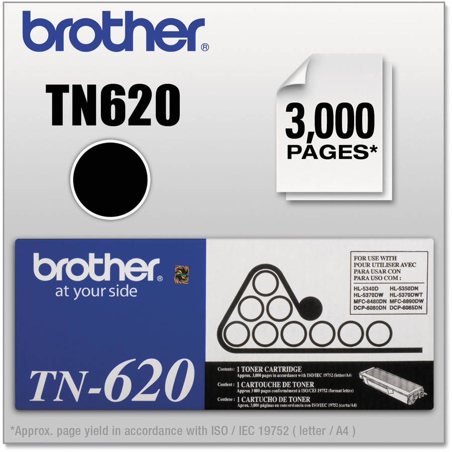 Brother TN620 Toner, 3000 Page-Yield, Black