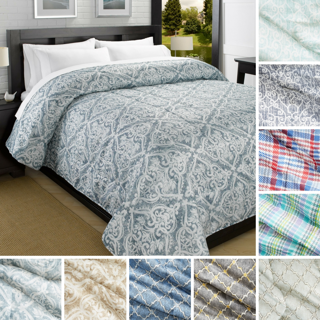 Printed Down-Alt Ultra Lightweight Comforter