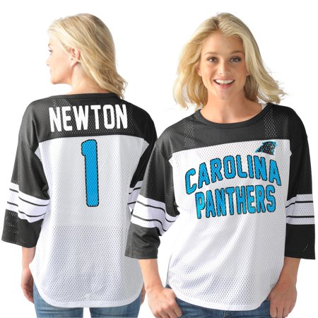 size 40 9ed42 ac021 Cam Newton Carolina Panthers G-III Sports by Carl Banks Women's Play Action  Name & Number Top - White