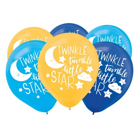 Twinkle Little Star Latex Balloons (15)](Star Latex Balloons)