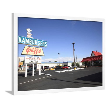 Drive Thru, Route 66, Albuquerque, New Mexico, United States of America, North America Framed Print Wall Art By Wendy