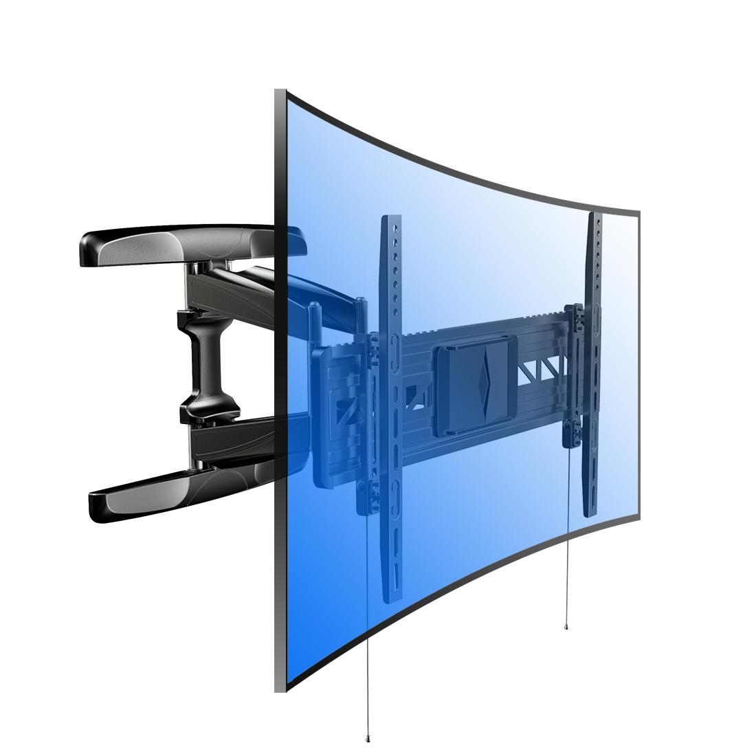 "Loctek R2 Curved Panel UHD HD TV Wall Mount Bracket Articulating Arm Swivel & Tilt for 32""-70"" 4K HD TV Screens"