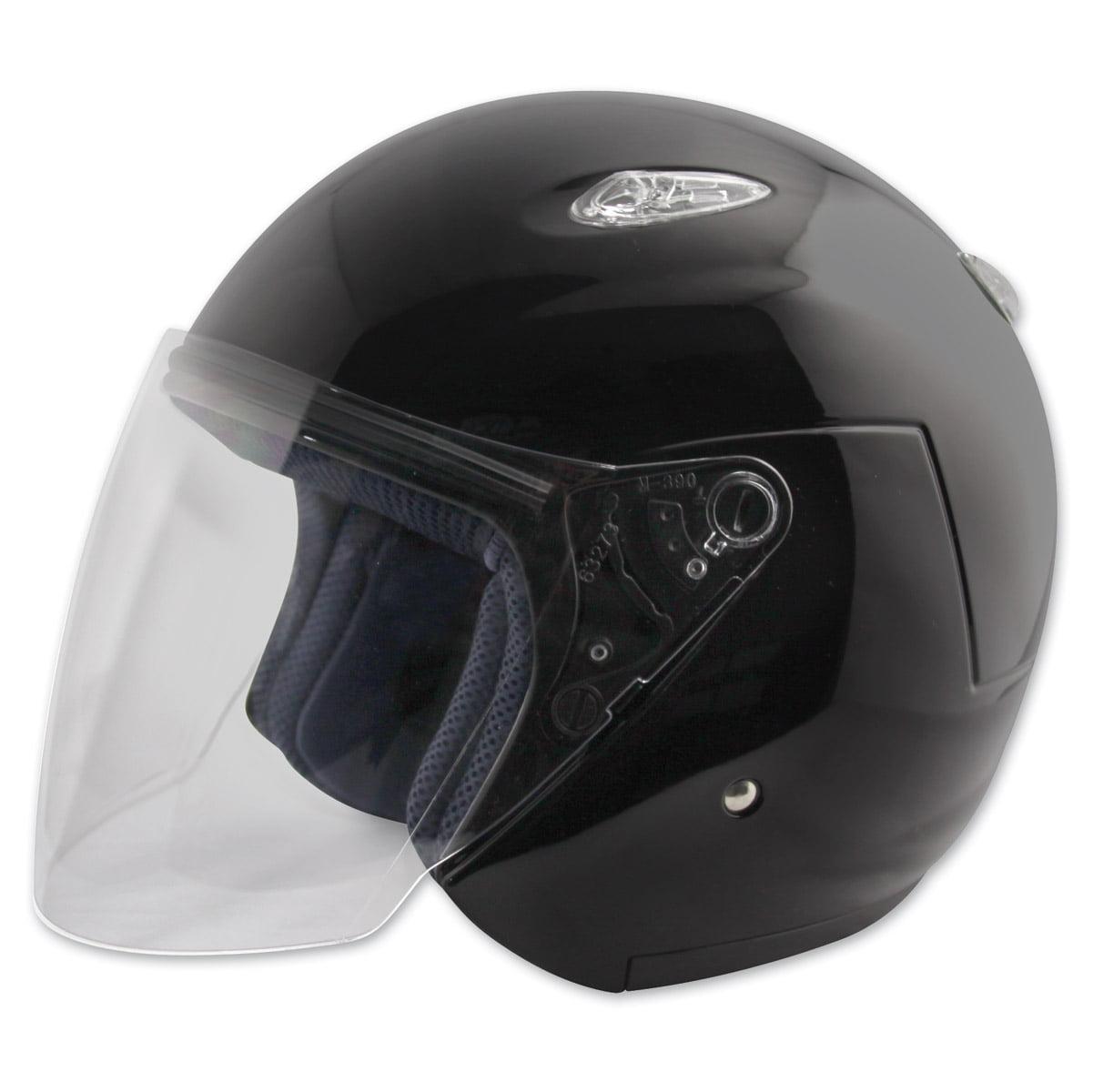 Zox  Classic Matte Black Open Face Helmet