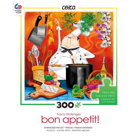 Puzzle - Bon Appetit - Chef in Kitchen 300pc Games Toys 2226-3