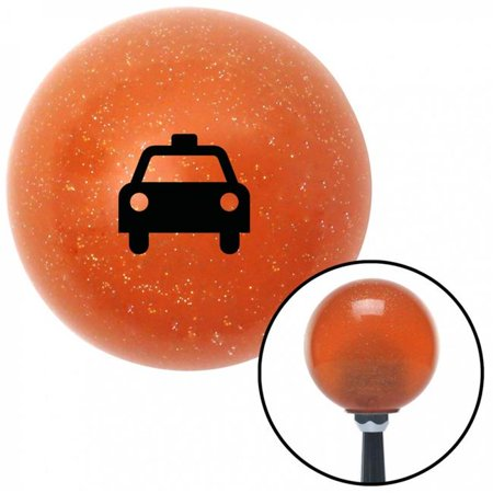 Black Taxi Orange Metal Flake Shift Knob with M16 x 1.5 Insert Shifter Auto Manual Brody - image 1 of 1