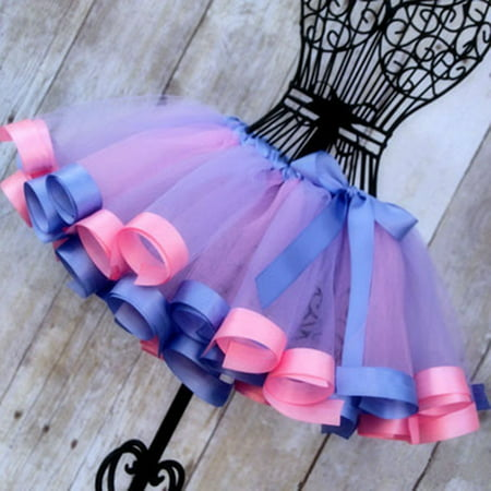 Toddler Kids Girls Party Ballet Dance Wear Tutu Skirt Dress Pettiskirt Costume](Christmas Pettiskirt)