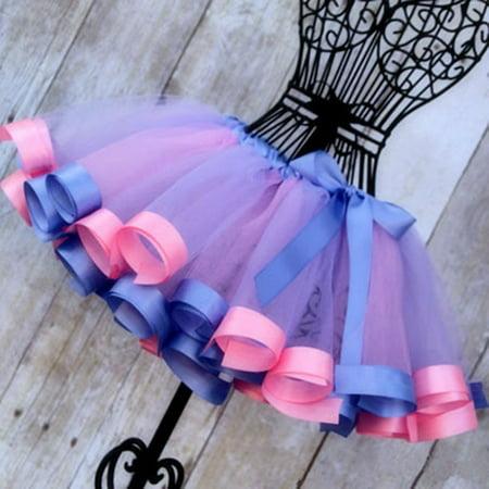 Toddler Kids Girls Party Ballet Dance Wear Tutu Skirt Dress Pettiskirt (Children's Show Dance Costumes)