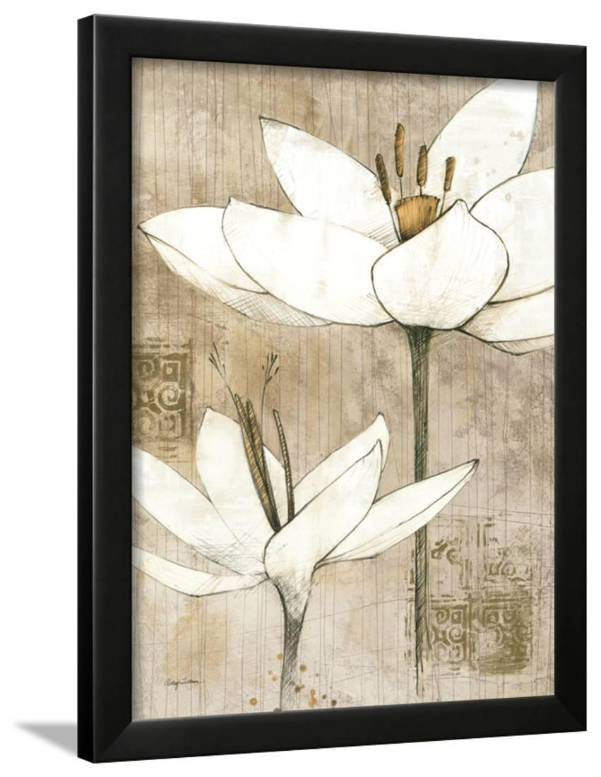 Pencil Floral I Framed Print Wall Art By Avery Tillmon Walmart Com Walmart Com