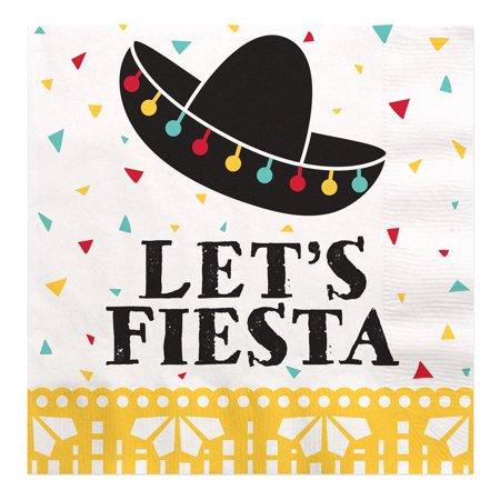Let's Fiesta - Mexican Fiesta Luncheon Napkins (16 Count)