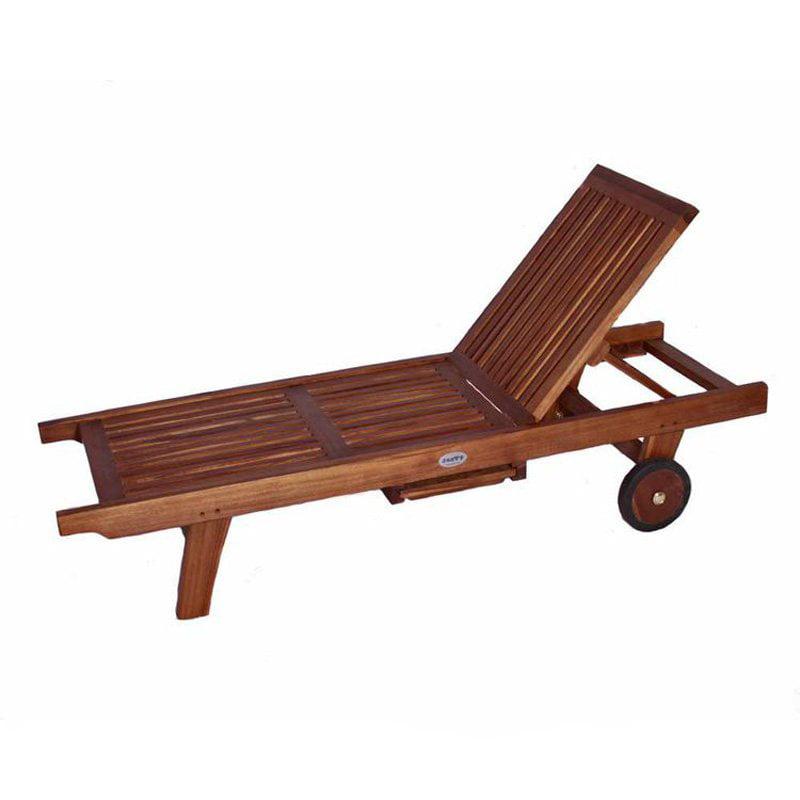 JazTy Kids Teak Lounge Chair with Sliding Tray