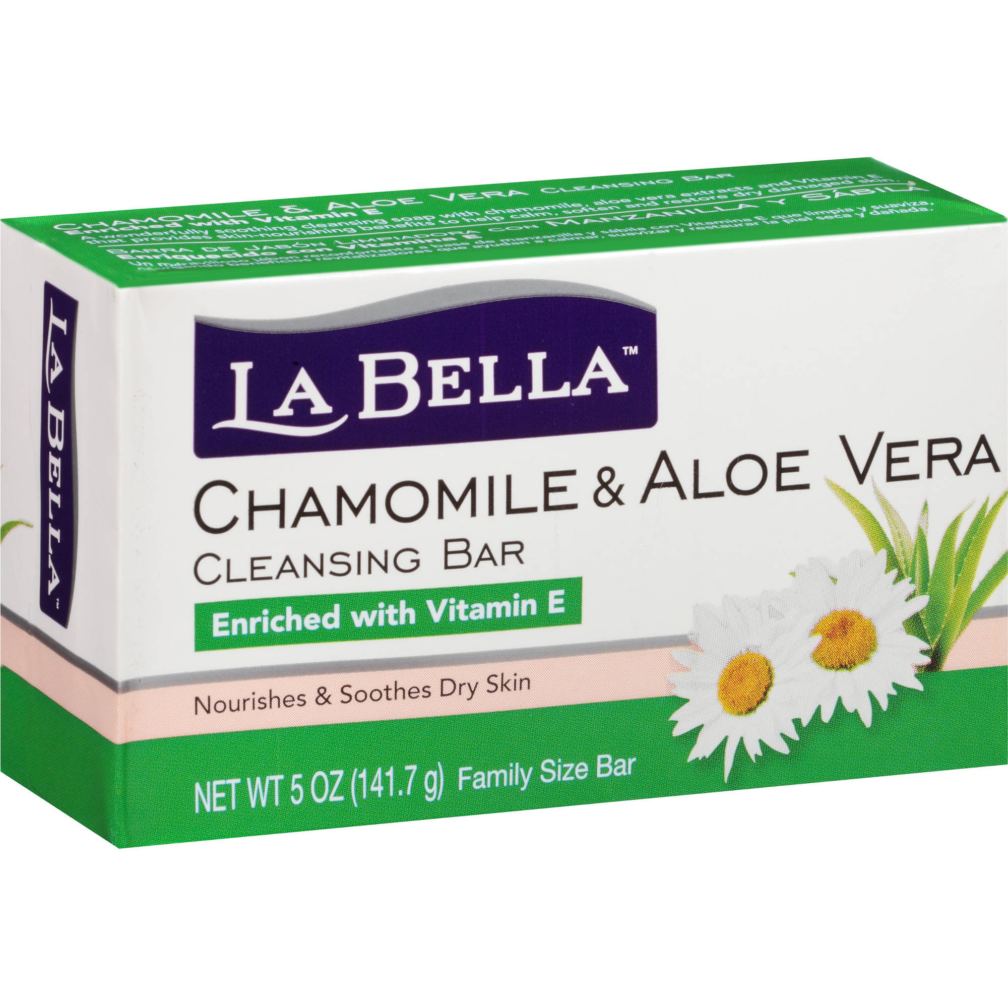 La Bella Chamomile & Aloe Vera Cleansing Bar, 5 oz
