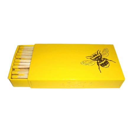 Joy of Light Designer Matches Bee On Yellow Embossed 4