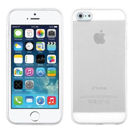 Insten Jelly TPU Rubber Candy Skin Case Cover For Apple iPhone 5/5S/Se, Clear