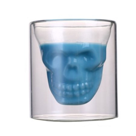 AkoaDa 1 Pc 75ml / 150ml Skull Wine Glass Cup Crystal Beer Mug Personality Bar Creative Glass Cup Wine Beer Glass