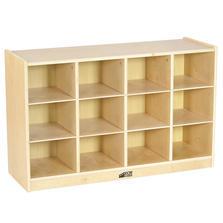 Birch 12 Cubby Tray Cabinet