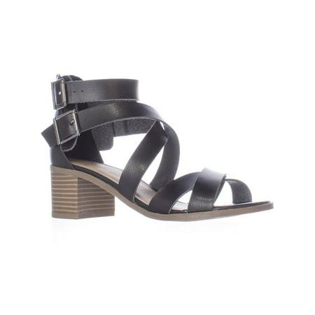 MG35 Danee Block Heel Strappy Sandals, Black - image 6 de 6