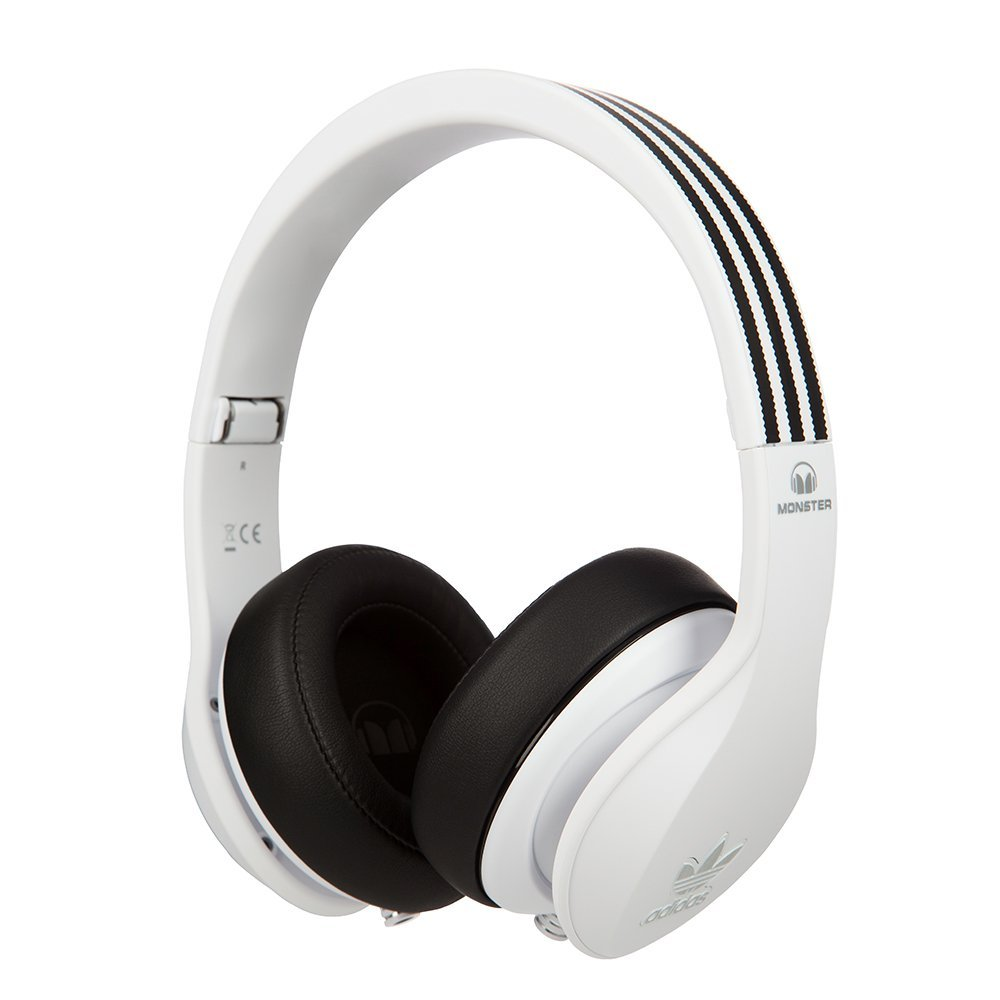 Monster Adidas Originals Over Ear Headphones-White (128555) by Monster
