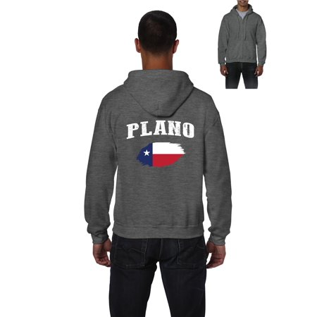 Plano Texas Mens Hoodies Zip Up Sweater