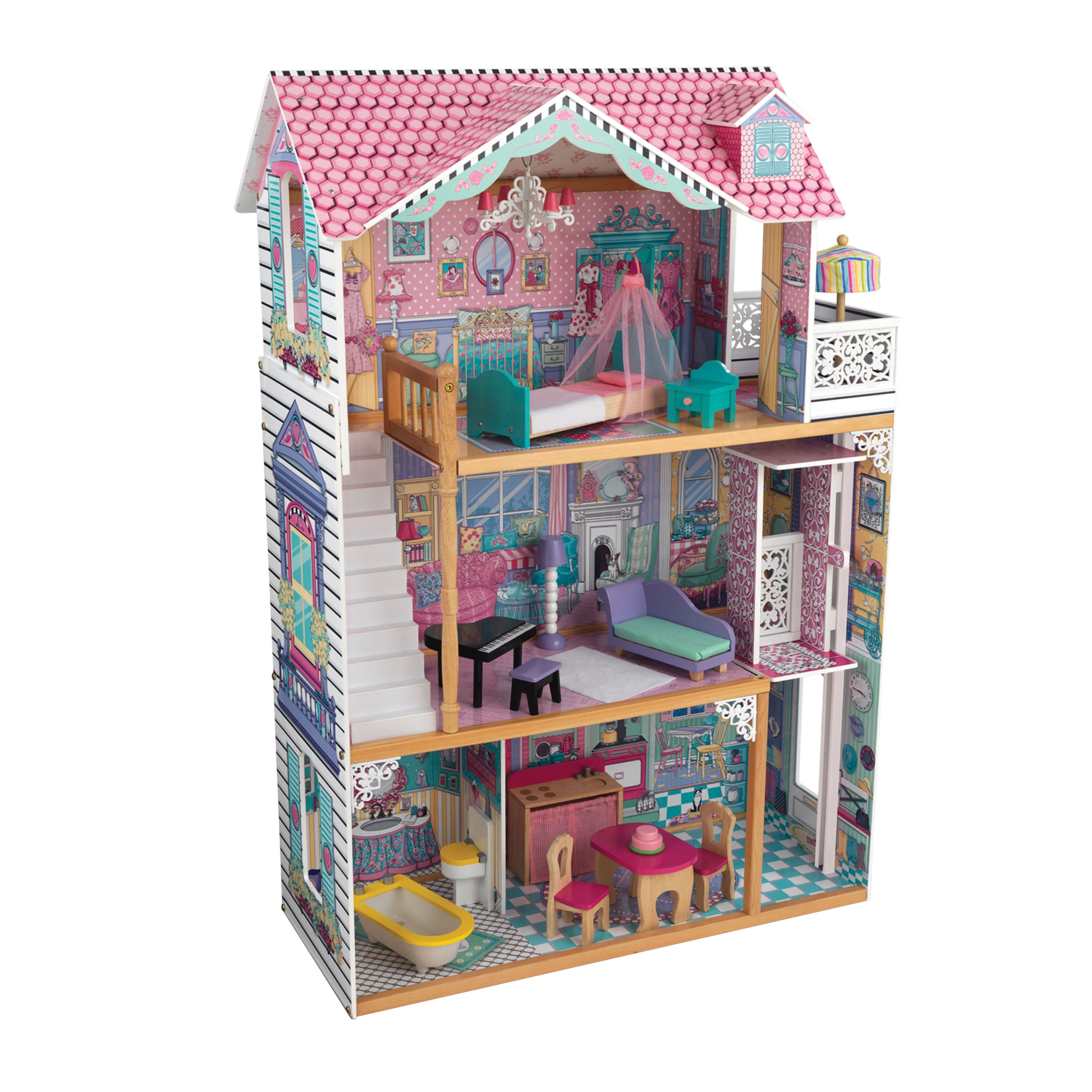 KidKraft Annabelle Dollhouse with 17 Accessories