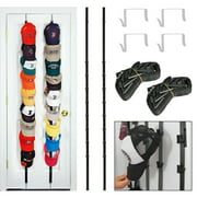 The Clip Hanger Hat Hats Baseball Cap Caps Rack Organizer Organizers Up to 16 Hats or Bags for Door, Wall, or Closet Rack Organizer  Hanger Holder