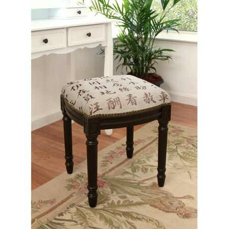 Astounding 123 Creations Kanji Upholstered Vanity Stool Creativecarmelina Interior Chair Design Creativecarmelinacom