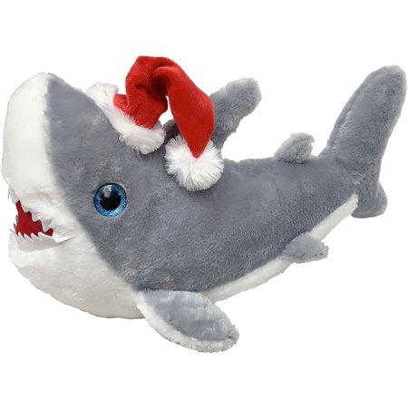 Kids of America Christmas Shark Plush Toy, Stuffed Animal, Stocking Stuffer, Gift for Children, 17 Inches ()