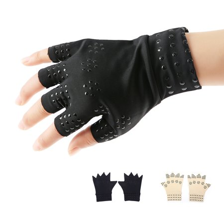 Boyijia Magnetic Arthritis Health Compression Therapy Gloves Women Men Pain Relief Fingerless Gloves - image 3 of 8