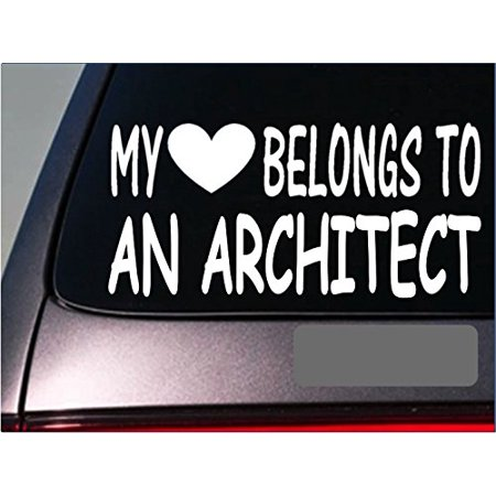 Drag Decal - Architect My heart belongs Sticker *G463* 8