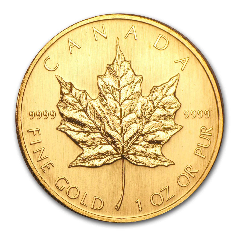 2003 Canada 1 Oz Gold Maple Leaf Bu