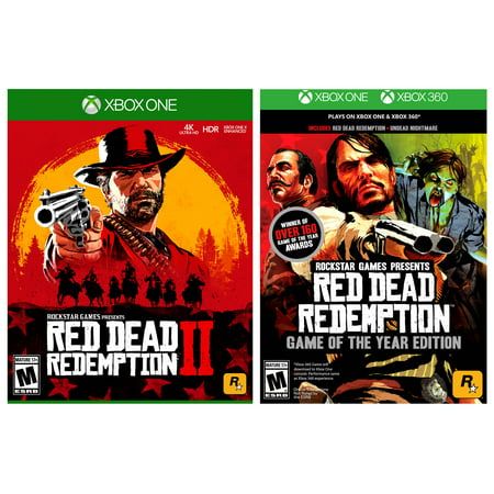 Red Dead Redemption 2 for Xbox One + Red Dead Redemption Game of the Year Edition for Xbox
