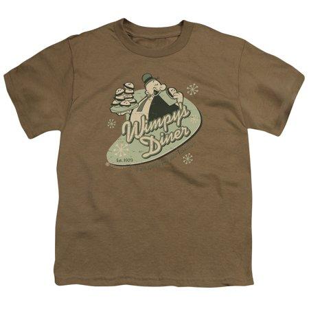 Popeye T-shirt Tee - Popeye Wimpy's Diner Big Boys Youth Shirt