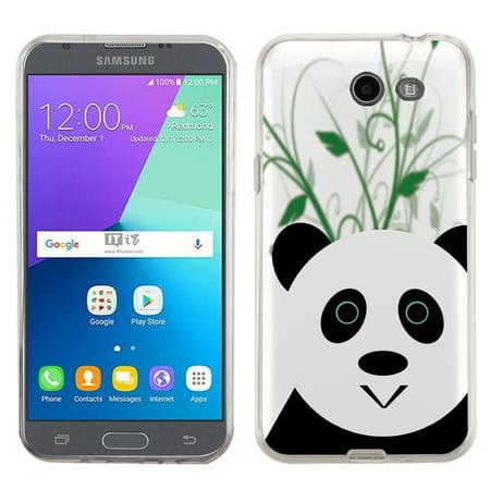 Slim Fit Case For Samsung Galaxy J3 Prime   Amp Prime 2   Express Prime 2  Onetoughshield   Premium Tpu Gel Phone Case  Clear Bezel    Panda