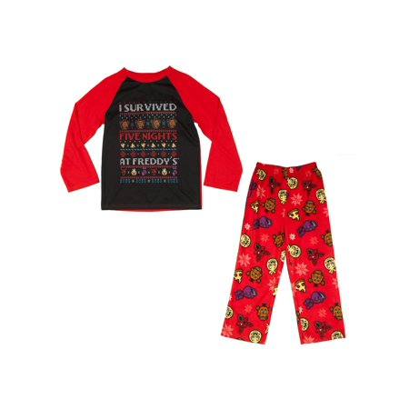 Boy's Five Nights at Freddy's 2-Piece Ugly Sweater Pajama Sleep Set - Five Nights At Freddy's 4 Halloween