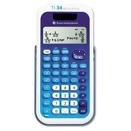 Texas Instruments Ti 34 Multiview Scientific Calculator  16 Digit Lcd