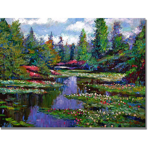 "Trademark Art ""Waterlily Lake Reflections"" Canvas Wall Art by David Lloyd Glover"