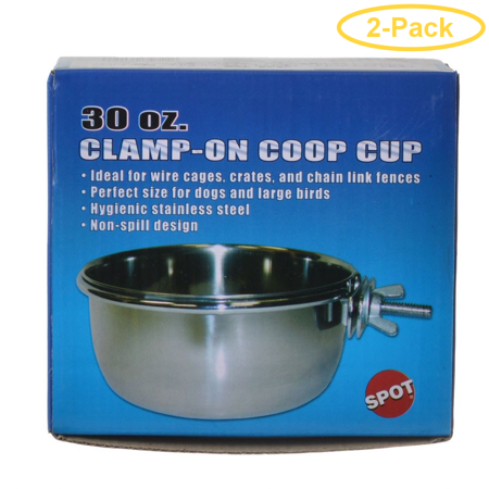 Spot Stainless Steel Coop Cup with Bolt Clamp 30 oz - Pack of 2