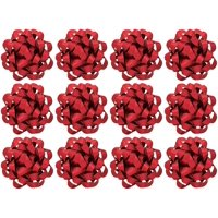 Decorative Confetti Gift Bows, Large, Red (12/Pkg) Pkg/1