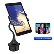 Car Tablet Holder, EEEKit 2 in 1 Universal Smartphone Tablet Car Cup Mount Holder with Flexible Gooseneck & 360° Rotation Compatible with Apple iPad Pro/Mini/Air, Samsung Galaxy Tab, iPhone 11 Xs Max