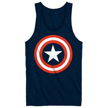 Tank Top: Captain America - 80's Captain Apparel Tank Top - Blue American Apparel Tank Top