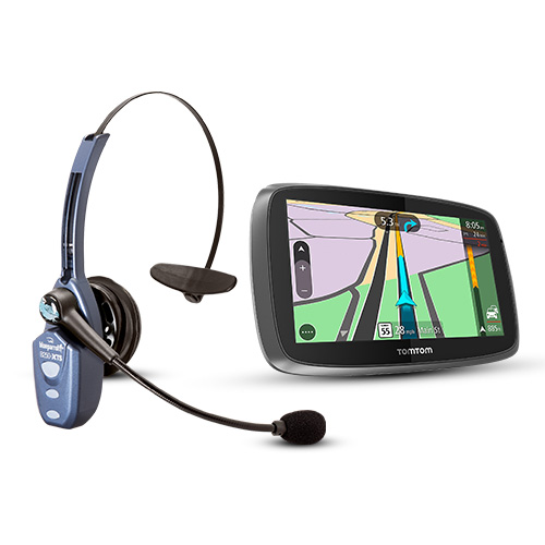 TomTom Trucker 600 with BlueParrott B250-XTS Automotive GPS + Bluetooth Headset